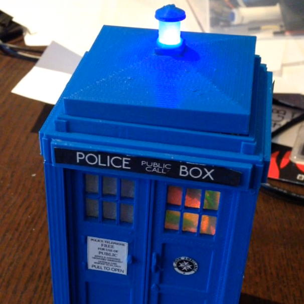 3D Printed Tardis with Arduino Lights and Sounds