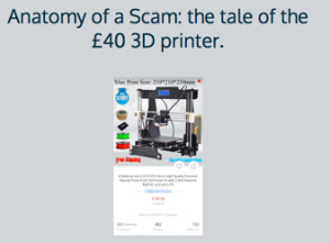 "Many ""cheap"" 3d printer scams out there"