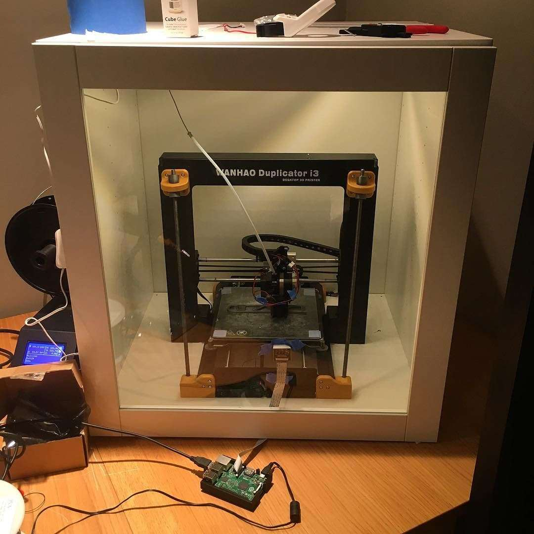 Ikea 3d Printer Enclosure Hack For Wanhao Di3 Maker Hacks