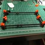 Building the base out of threaded rod and printed parts