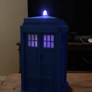 tardis lit up!