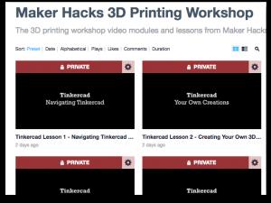 Maker Hacks 3D Printing Workshop on Vimeo