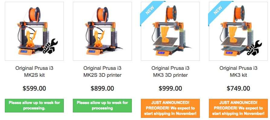 Prusa i3 Mk2/Mk3 or Creality CR-10 - Which is the Best 3D