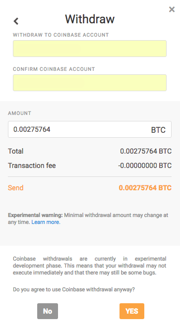 Withdrawing Wallet on NiceHash