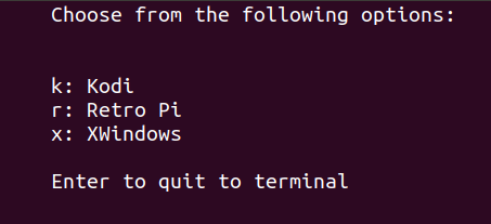 python linux boot menu