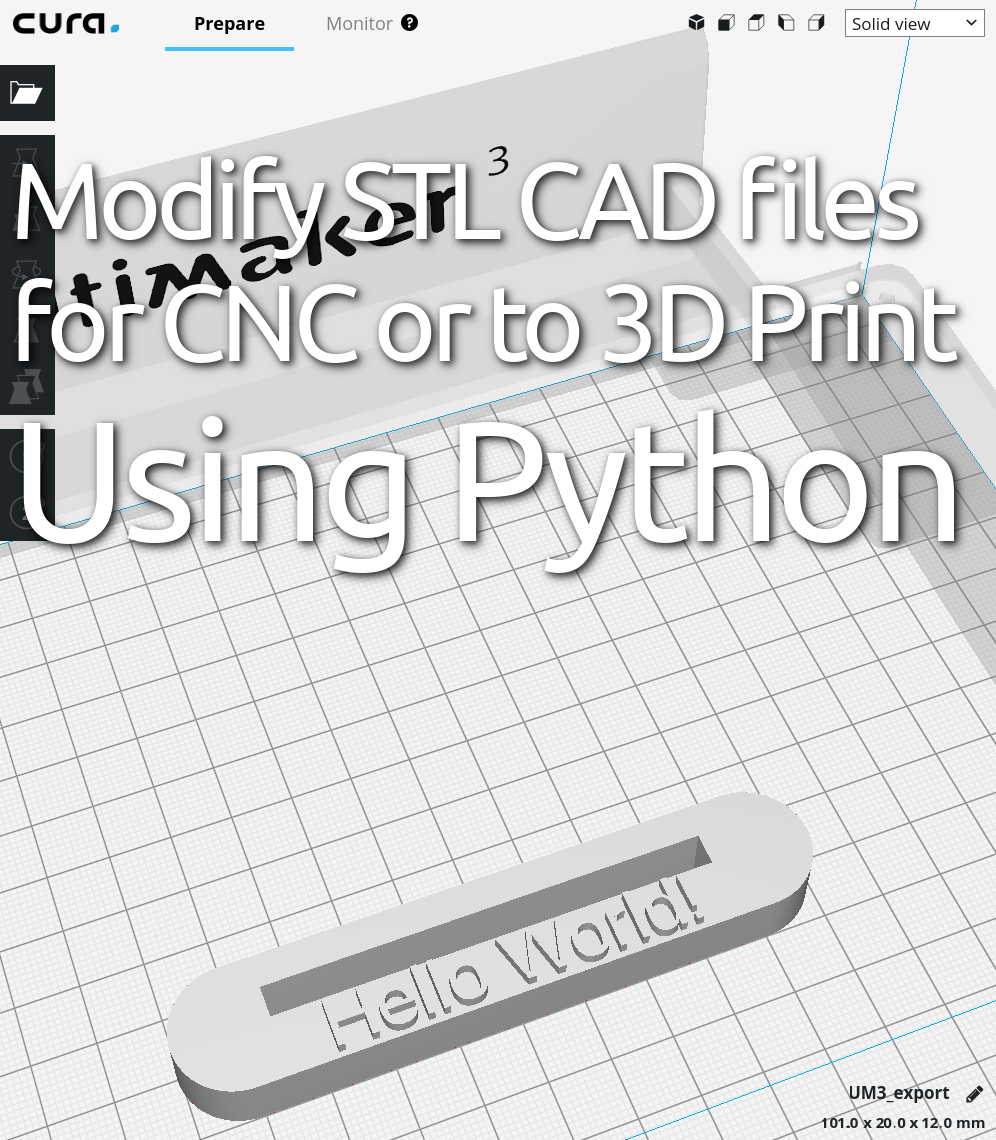 modify stl files with python code