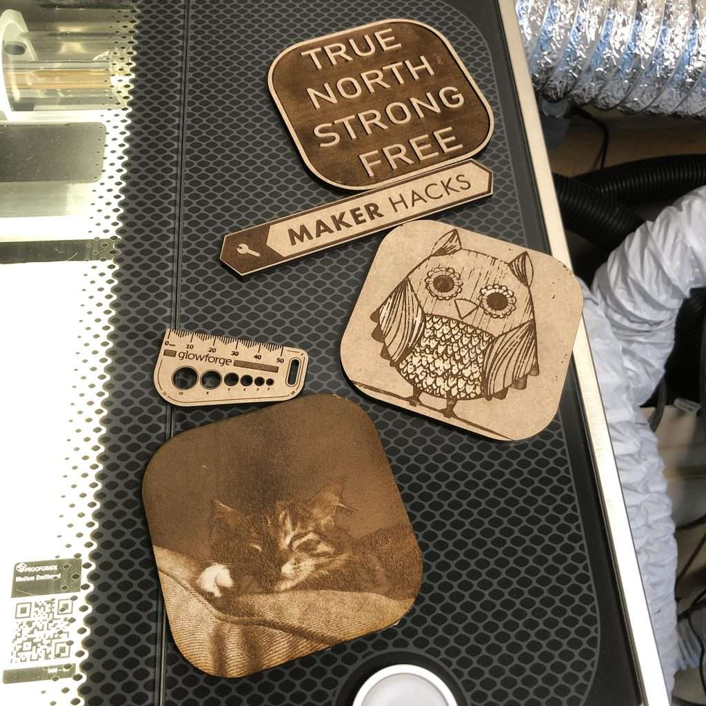 Glowforge example engraves