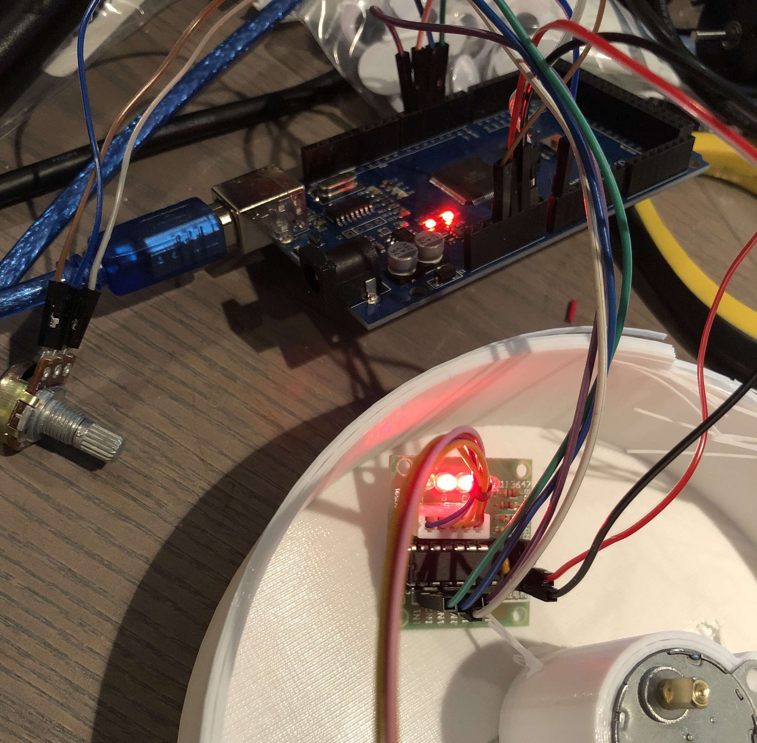 28YBJ-48 and the ULN2003. Stepper motor under Arduino control