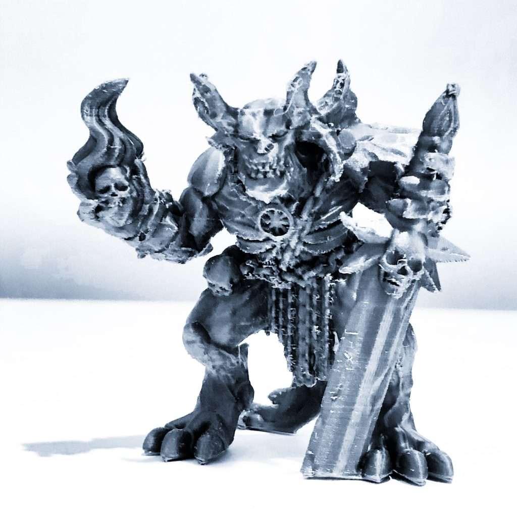 Demon miniature printed on prusa mk3s