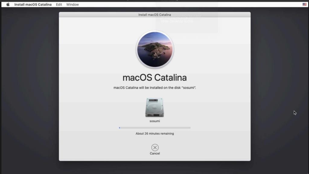 macosx catalina running on ubuntu via sosumi kvm