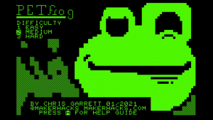 PETFrog, new Commodore PET game from Chris Garrett