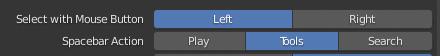 "Change Blender Spacebar Action to ""Tools"""