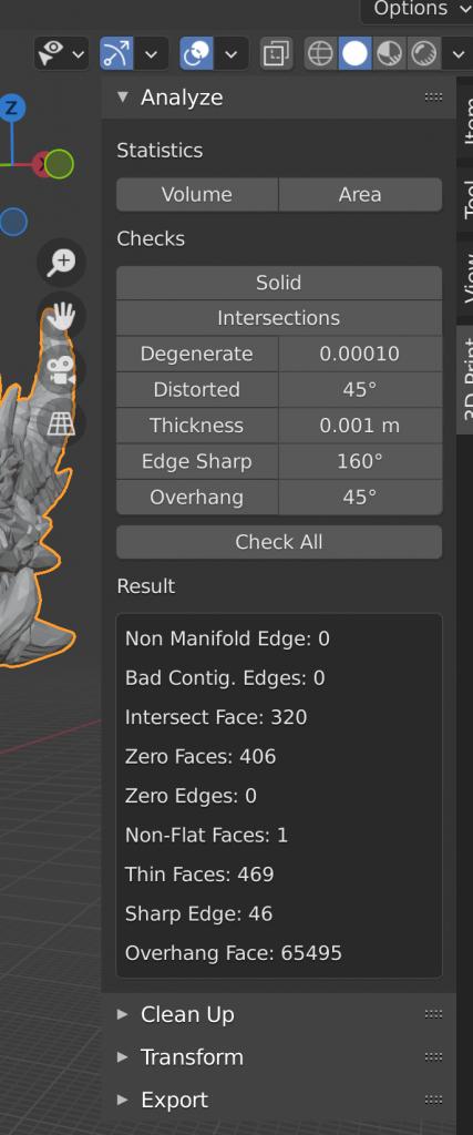 Blender 3D Printing Add-On