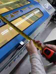 Thunder Laser 51 reviewed here is a huge machine that can fit a whole sheet of plywood